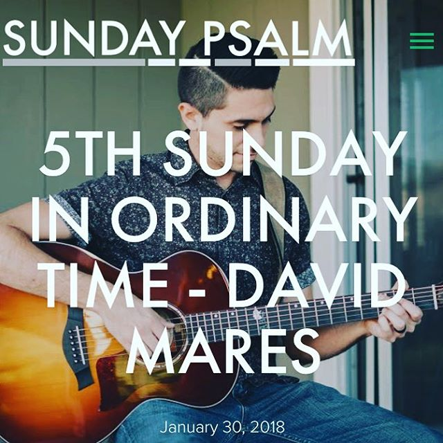 @davidmaresmusic thanks for supplying the Psalm for this weekend! Link in bio