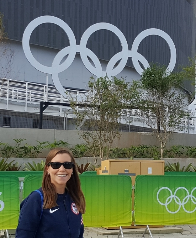 Jacque Scaramella, MS, RD, CSSD at the 2016 Rio Olympics