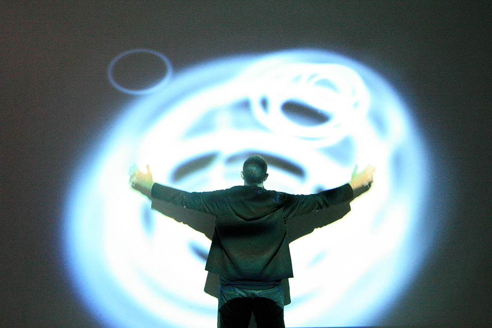 Wall projection ripple effect
