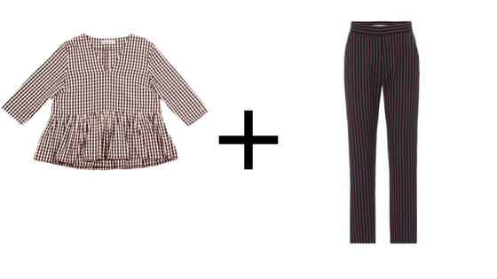 here's the top  +  here's the trousers