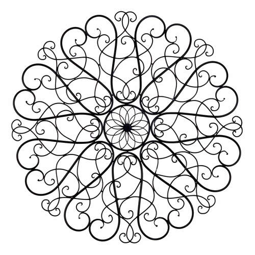 Scroll Wall Art round iron scroll wall art — the french peddler