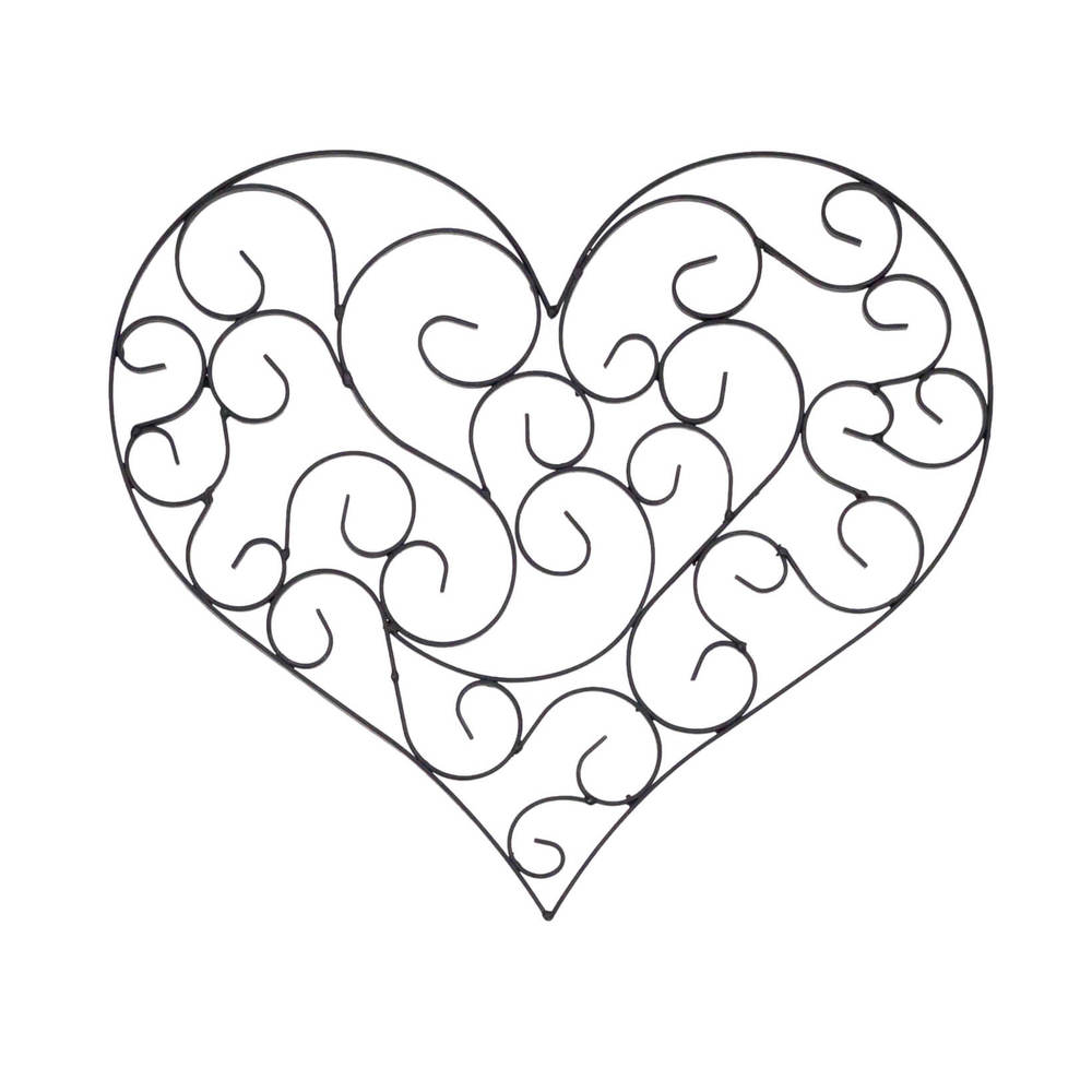 Wrought Iron Heart Wall Decor Wrought Iron Heart Shaped Wall Décor  The French Peddler