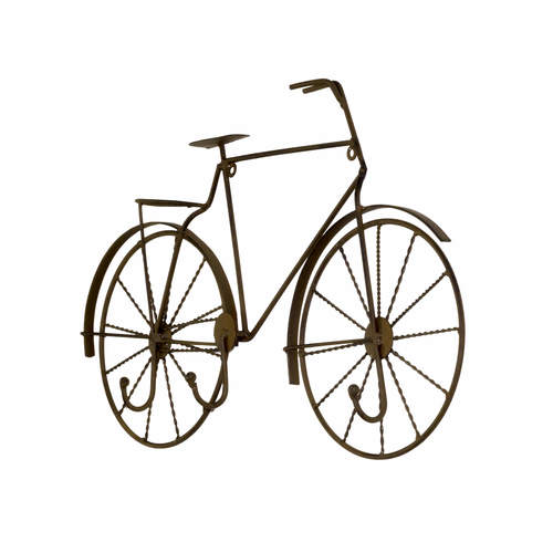Metal Bicycle Wall Decor metal retro bicycle wall décor with hooks — the french peddler
