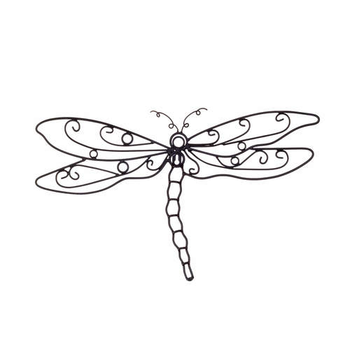 Dragonfly Metal Wall Art dragonfly metal wall art — the french peddler