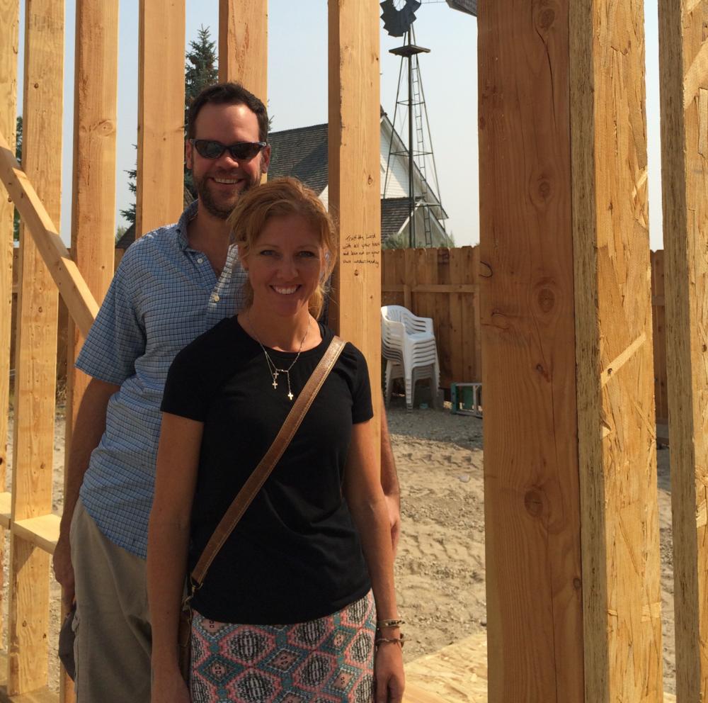 Pastor Tim & Jen Wangler at the new site