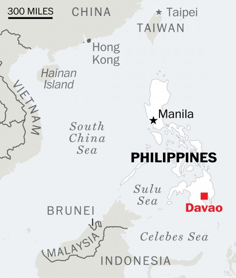 Davao, Philippines from  Washington Post