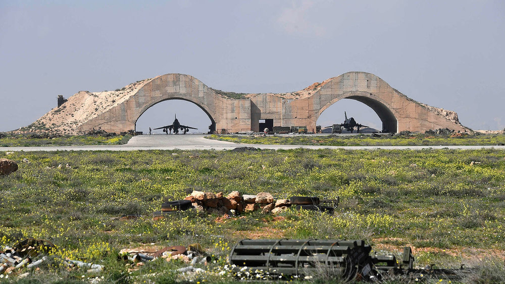 Su-22s still operational under hardened bunkers at Shayrat Air Base. Source:  The Drive