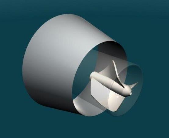 CAD image of test tank model