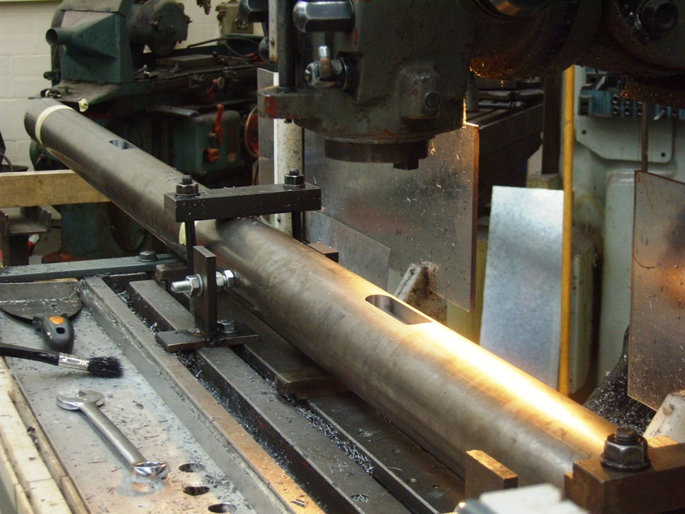 Key ways on shaft machined using CNC milling machine