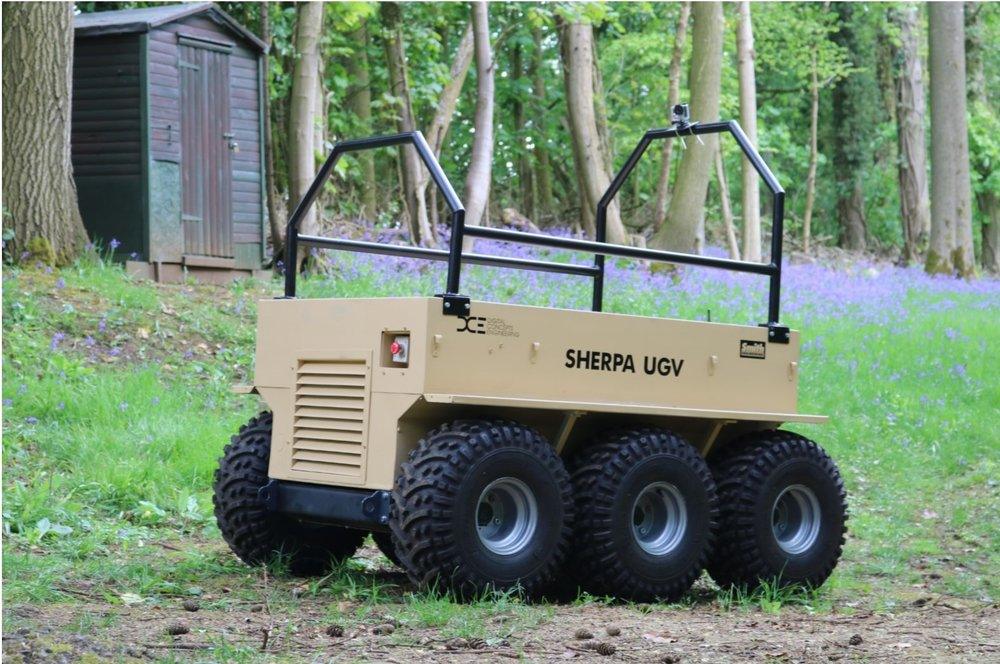 On manoeuvres – Sherpa UGV being trialled at the Centre for Homeland Security, Oxfordshire