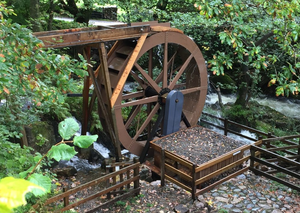 3.5kW electricity generating waterwheel installed at Eskdale Mill in the English Lake District.
