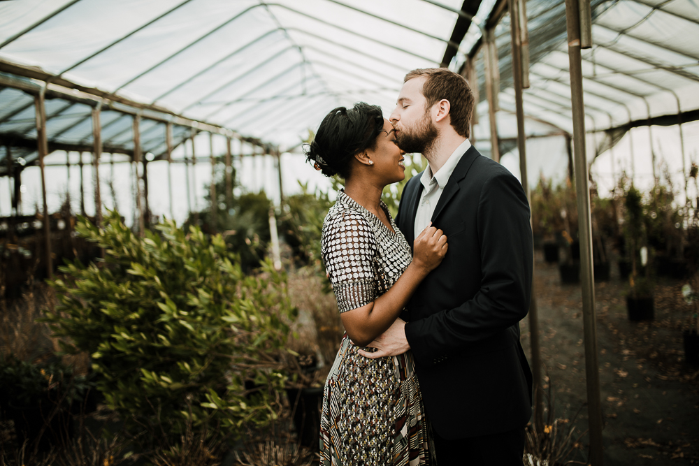Memphis Wedding Photographer, Brooks Museum Wedding, Greenhouse Engagement Photos