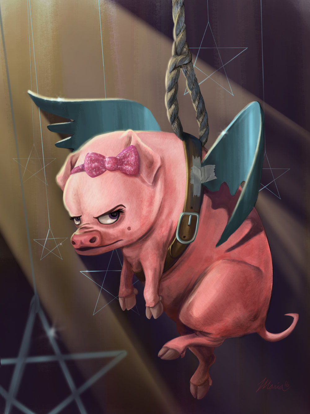 """Estelle the Flying Pig"""