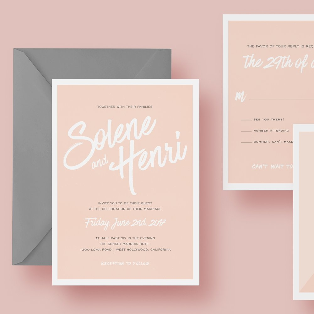 wedding invitation suite invite custom design orange county