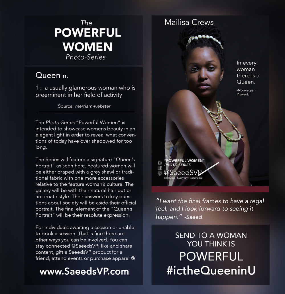 Join the conversation as we discover Powerful Women and acknowledge the ones we know.   The woman above has been acknowledged for her Queen like attributes.   Queen's are supreme by lineage and have the authority to address pressing issues.      Share this image with a woman you think is applying her authority to make the world a better place using the hashtag   #icTheQueeninU