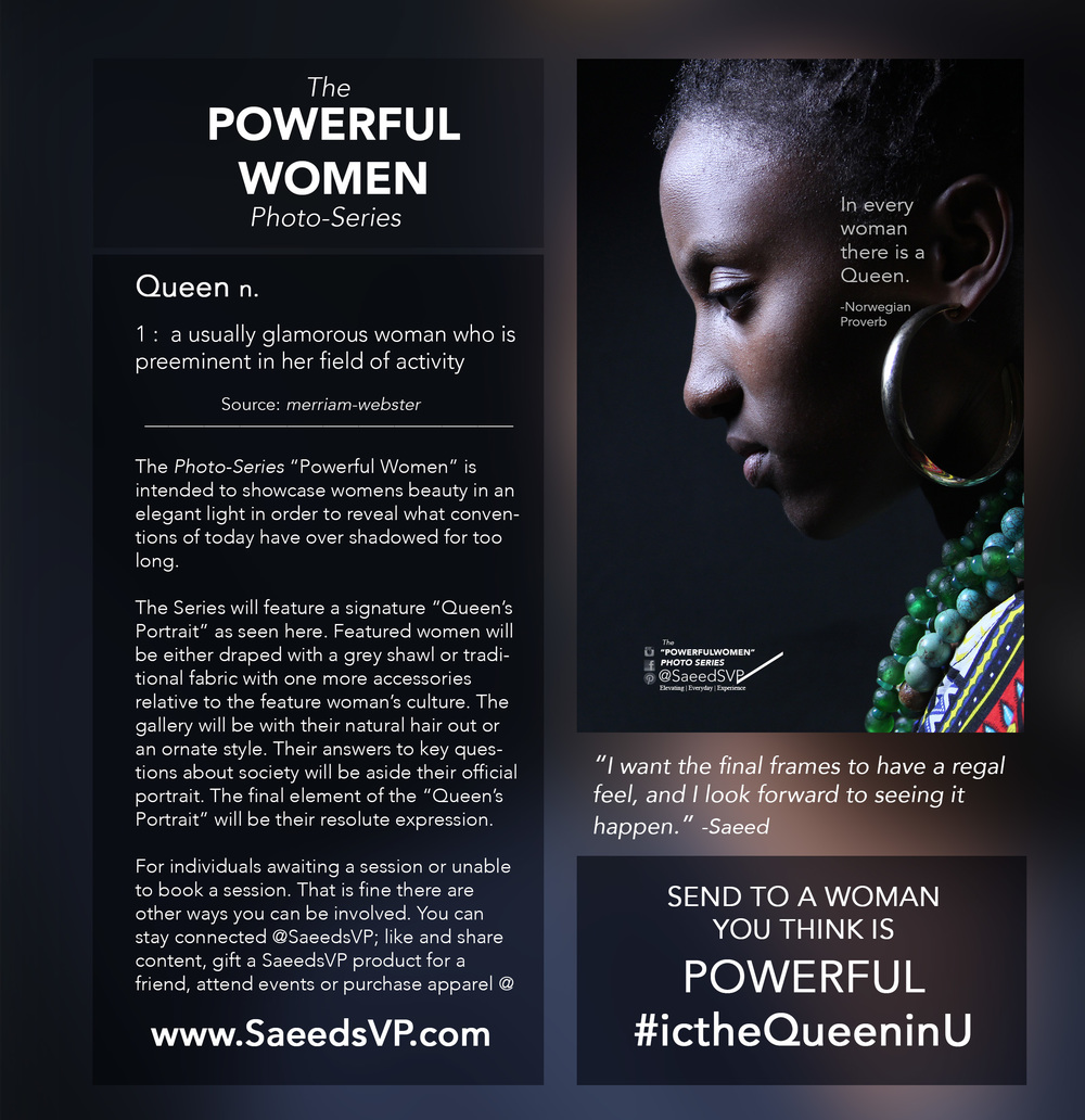 Join the conversation as we discover Powerful Women and acknowledge the ones we know.  The woman above has been acknowledged for her Queen like attributes.  Queen's are supreme by lineage and have the authority to address pressing issues.Share this image with a woman you think is applying her authority to make the world a better place using the hashtag  #icTheQueeninU