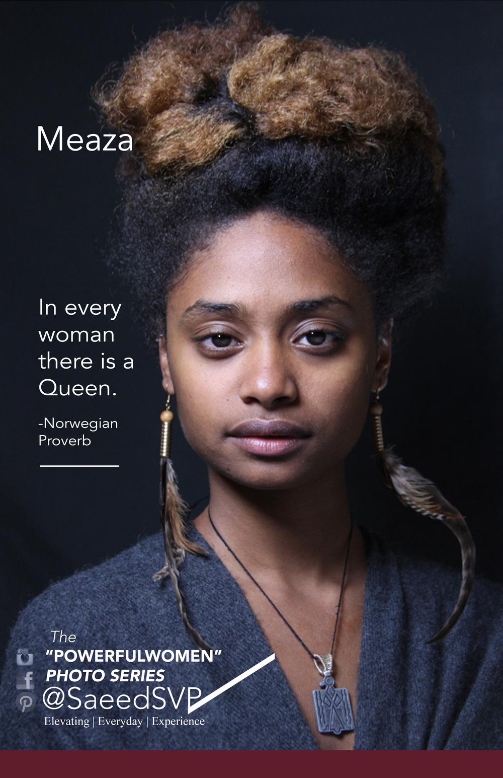 What Queens do you know? Join the conversation as we discover Powerful Women and acknowledge the ones we know.  The woman above has been acknowledged for her Queen like attributes.  Queen's are supreme by lineage and have the authority to address pressing issues.    Share this image with a woman you think is applying her authority to make the world a better place using the hashtag  #icTheQueeninU