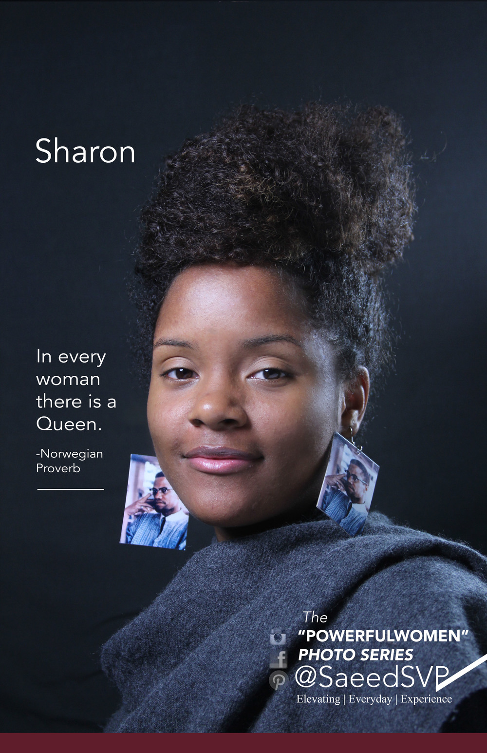 """What Queen's Do you know?    Join the conversation as we discover Powerful Women and acknowledge the ones we know.   The woman above   """"Sharon Bryant""""   has been acknowledged for her Queen like attributes.  Visit the official  """"Queen's Portrait Gallery""""   to see what she's doing to better humanity. Queen's are supreme by lineage and have the authority to address pressing issues.    Share this image with a woman you think is applying her authority to make the world a better place using the hashtag  #icTheQueeninU"""