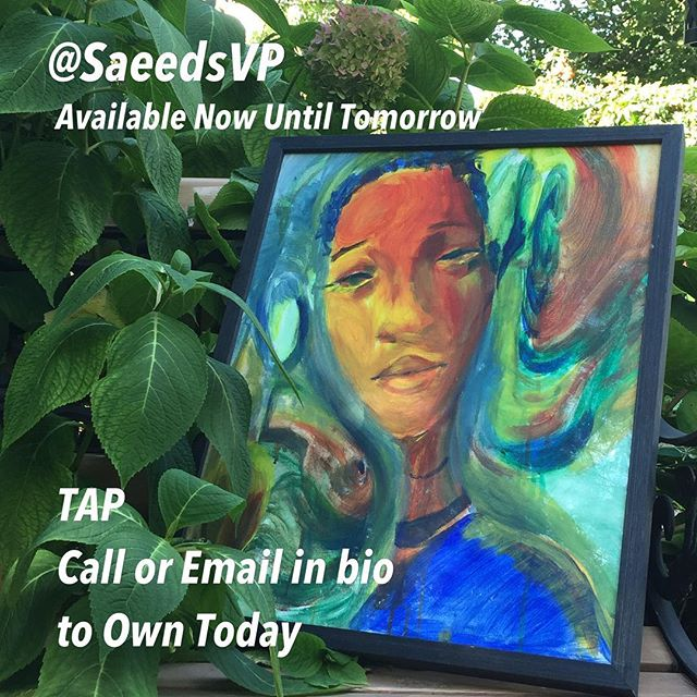 New 16x20in limited edition Acrylic Canvas Painting 1of1 titled 'Gaze in the Garden' which is a comment on seeing the abundance in your space.  Don't your chance 😁🖖🏾🙌🏾 #philadelphiaart #artcollectors #blackgirlmagic #queens #cosmic #either #abundance #abundant #prosperity #wealth #artforsale #arttoown #owntoday #beautifulwomen #beautiful #colorfulart #artwork #blackart #supportblackartists #blackandbeautiful