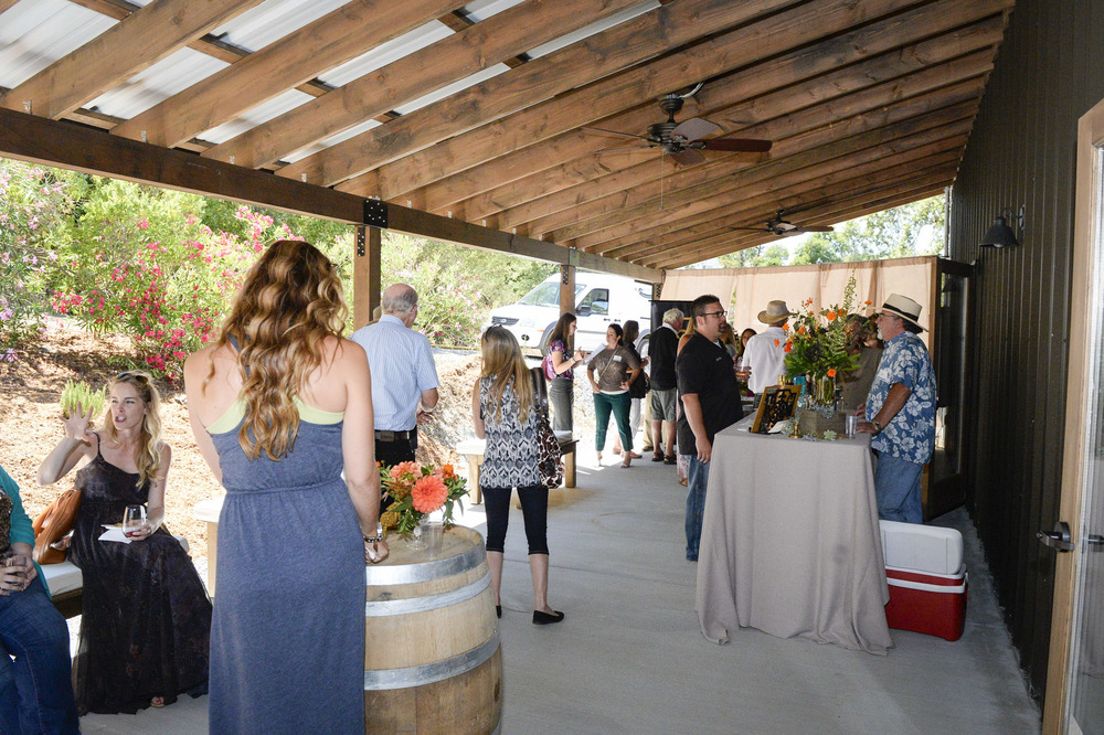 Guests enjoying the breezeway at The Highlands Estate