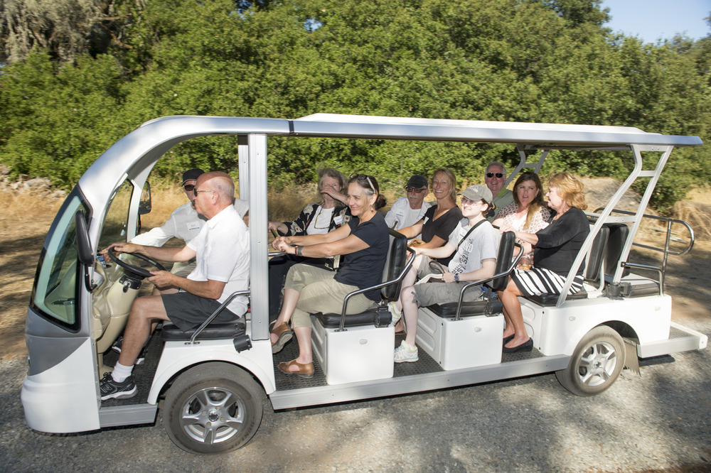 Shuttle ride at The Highlands Estate