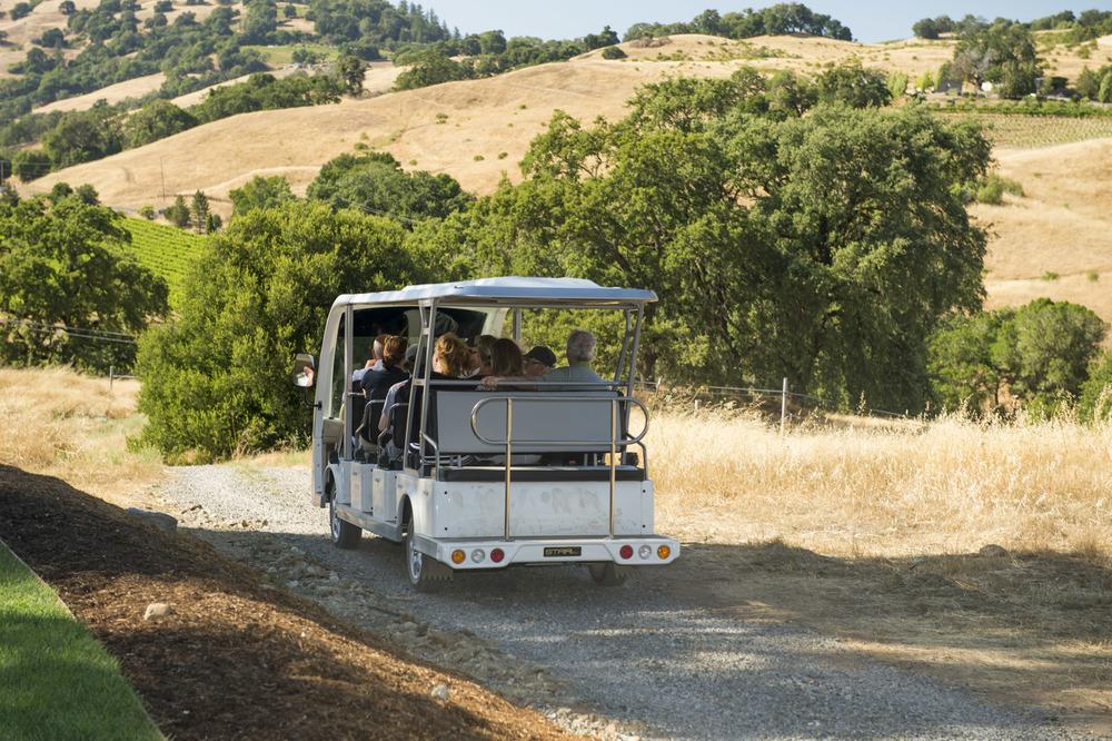 Shuttle departure at The Highlands Estate