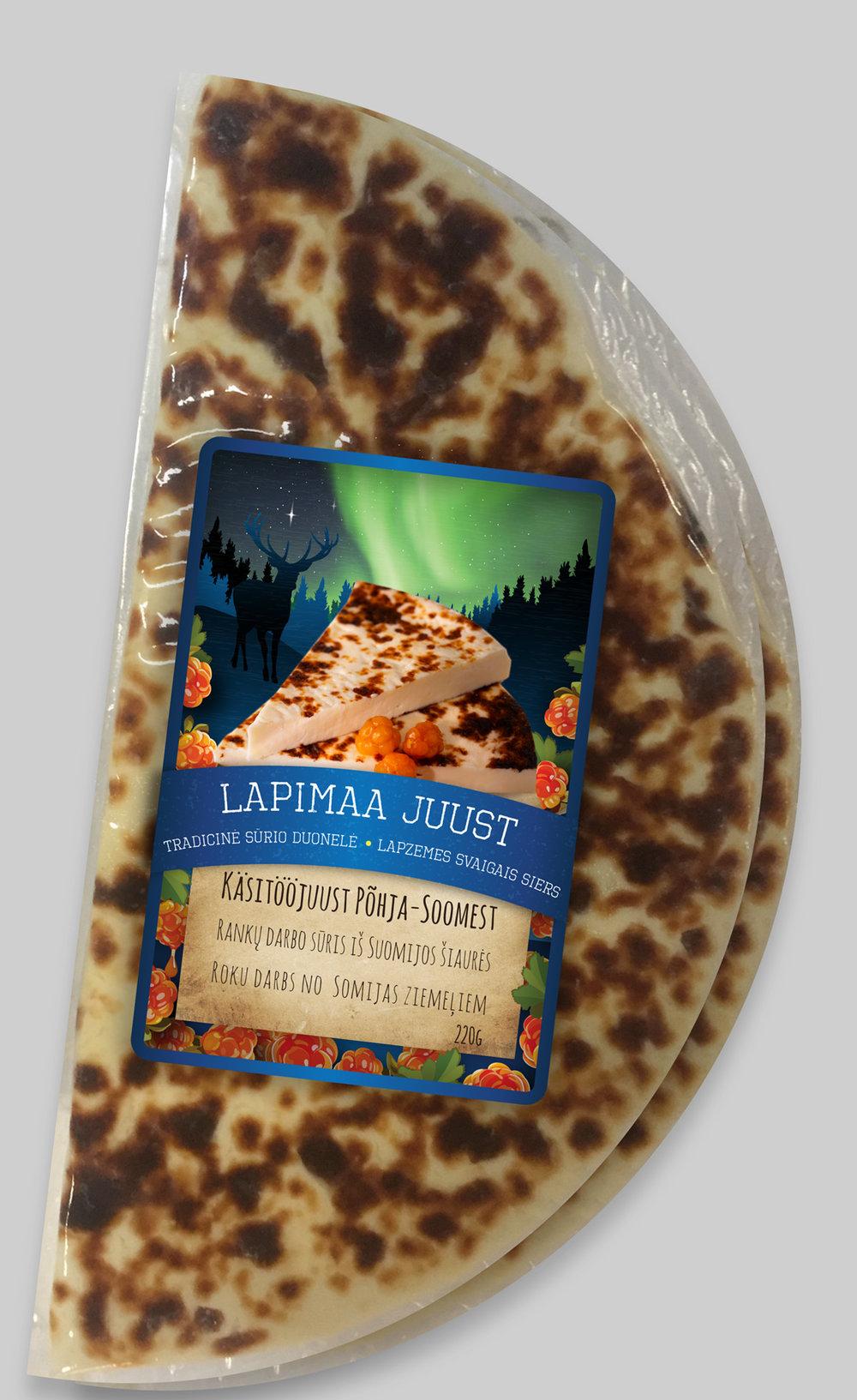 Lapimaa juustu kleebisetikett