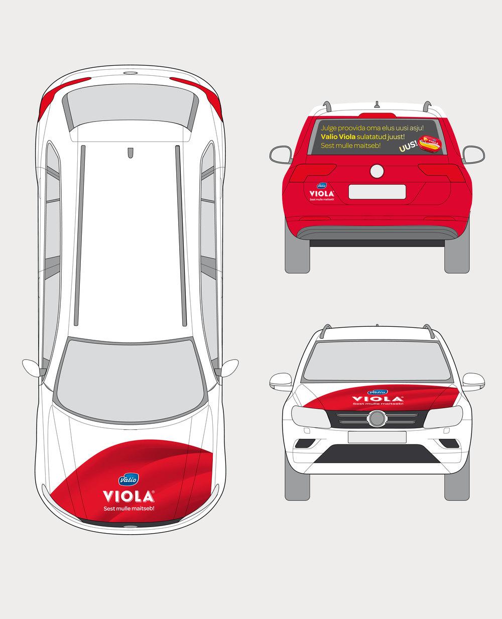 Valio Viola auto kujundus eeest ja tagant