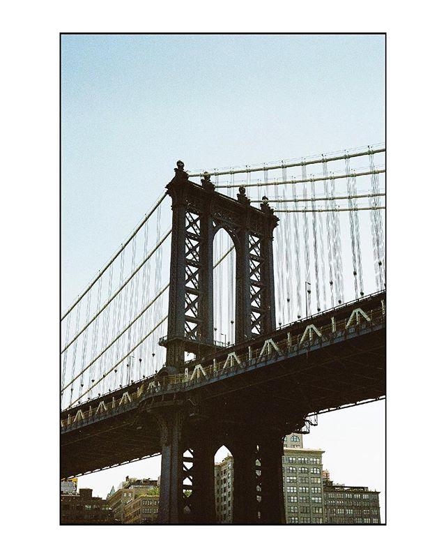Manhattan Bridge, from an East River ferry. #leicam3 #portra400