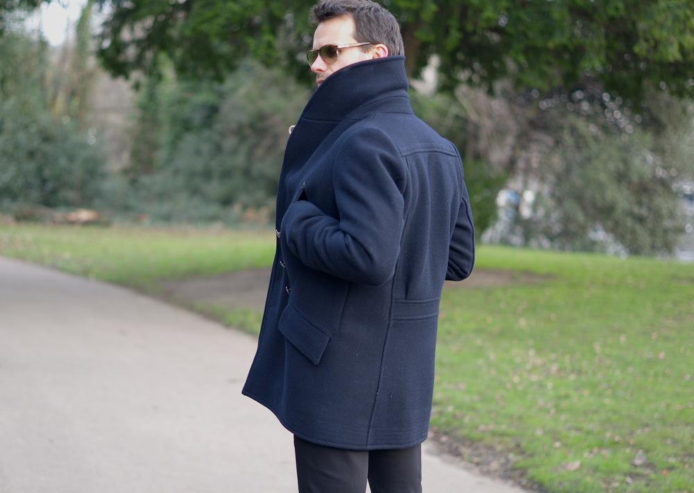 Casual snob Reiss Shawl Pea Coat 6.JPG