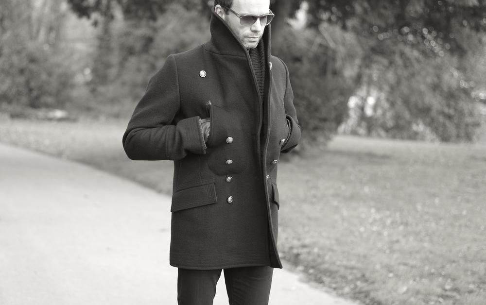 Casual snob Reiss Shawl Pea Coat 8.JPG