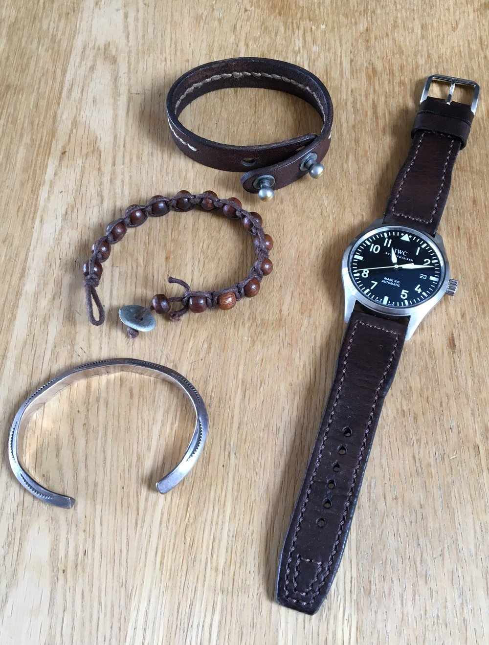 Casual snob IWC Mark XVI and Brown Strap 1.jpg