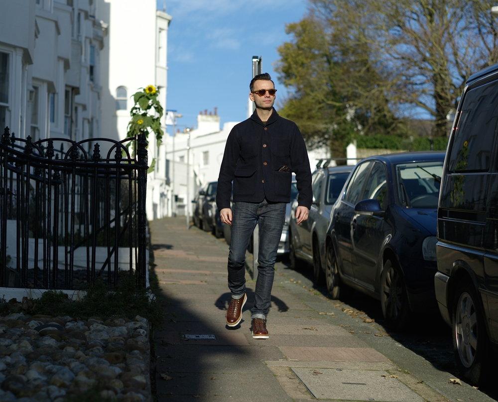 Bartosz Gajec - Casual snob - Universal Works Melton Jacket Grenson Andy Boots.JPG