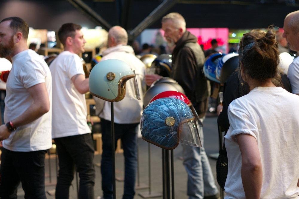 Casual snob - Bikeshed London 2018 38 Hedon Helmet.JPG