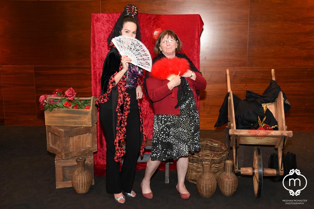 A Spanish themed photobooth at the Calgary Opera's  Carmen .