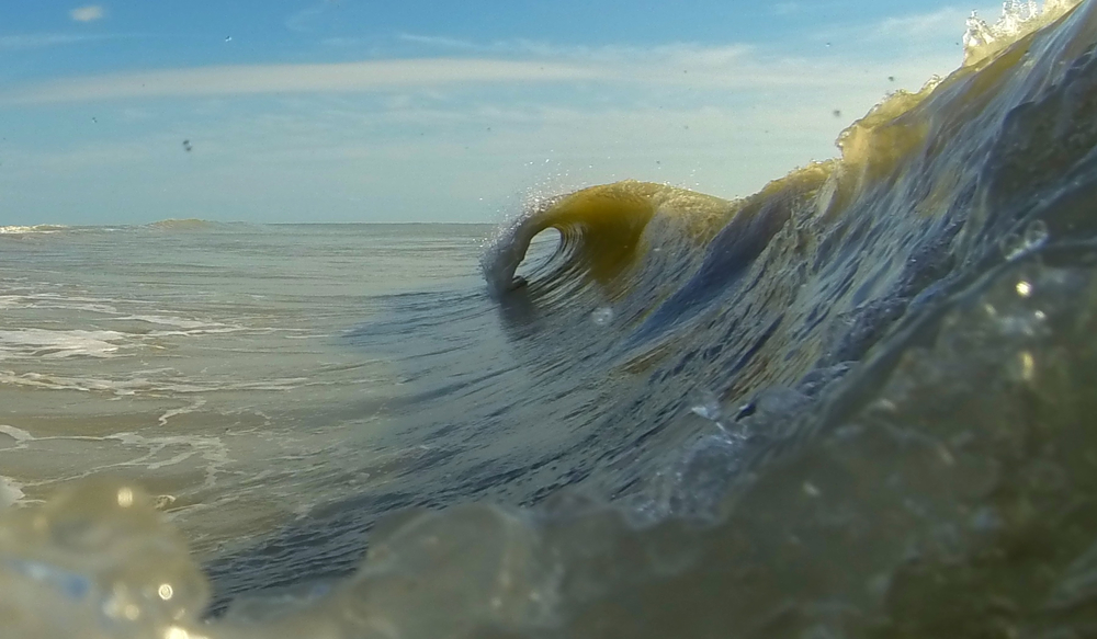 Sanibel Island swell - photo by Dave Decker