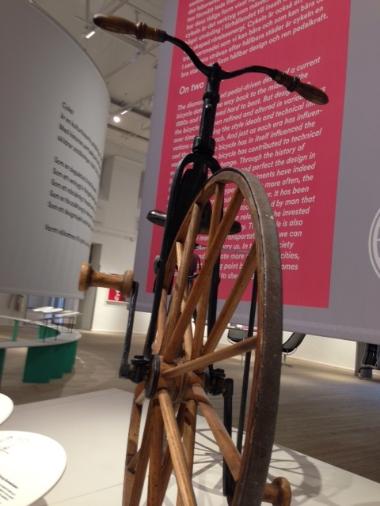 Early twentieth-century bicycle at Arkitekturmuseet.