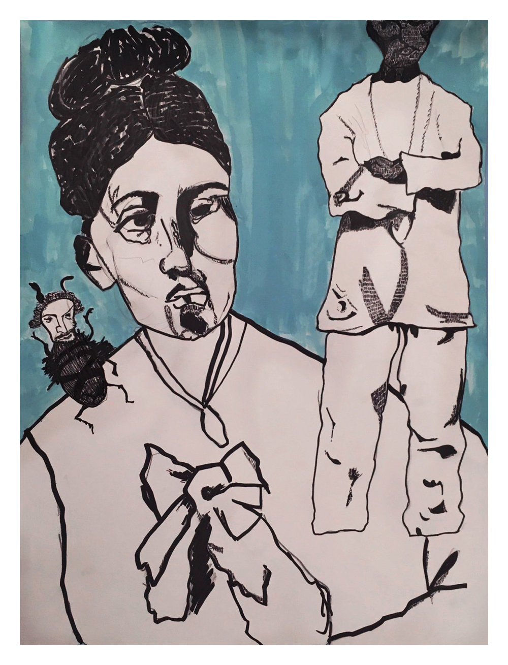 Expressive Figure/Painted Collage [Foundation year]