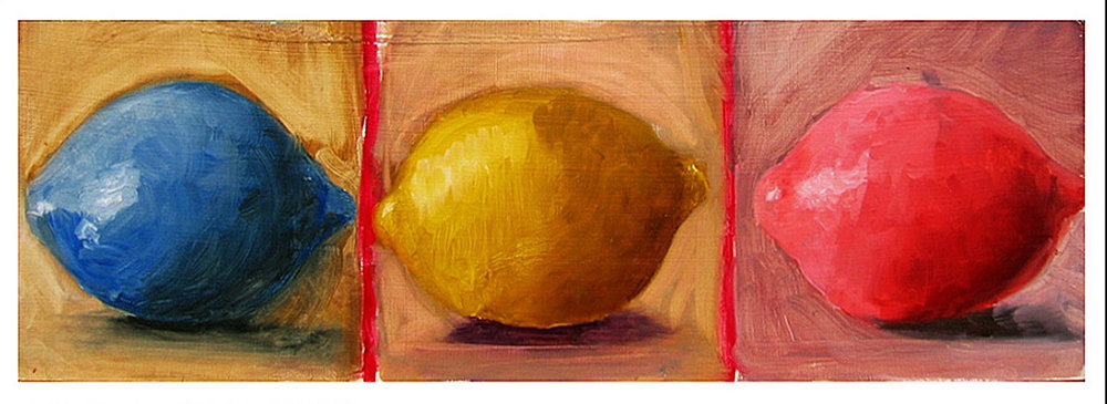 Lemons in Primary Colors [Painting I]