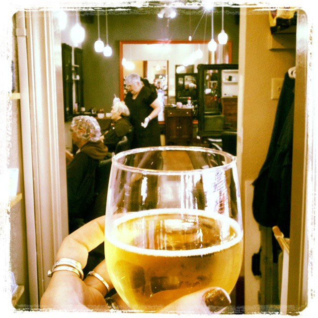 Raising a glass to 5 years of Professionalism at Xcelerate Salon! Congrats, Lori and Rema for making our #salon the best in #NoeValley!