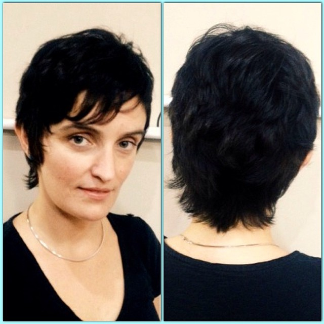 great #haircut from #longhair to #shorthair by #stylist Lori Koon! #noevalley #sf #hair #hairsalon