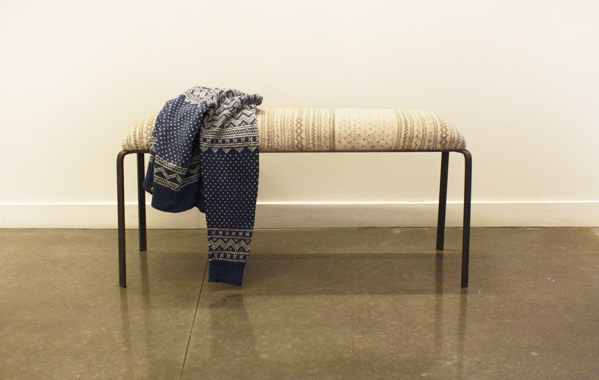 The Setesdal Bench Brings Traditional Norwegian Knitting Into A  Contemporary Piece Of Furniture. My Grandmother Hand Knit The Upholstery  Using A Combination ...