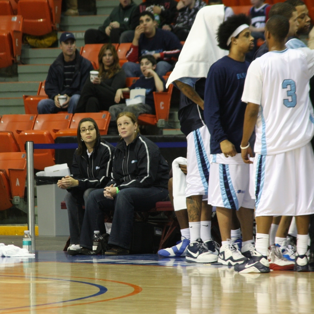 On the bench with the Halifax Rainmen, 2009