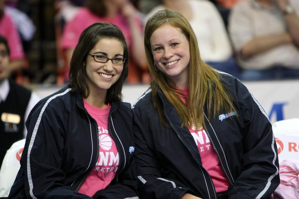 2009 Rainmen - bench 02 gen and amie.JPG