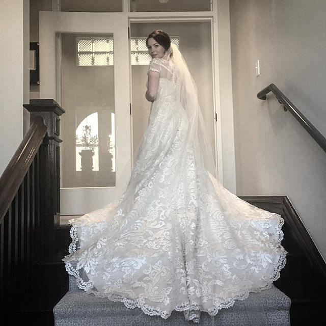 #tbt to not too long ago when my beautiful sister got to wear this masterpiece to get married to an awesome guy. #marriagegoals #weddingdress #sobeautiful #loveher #lovethem @skibikeglitter @chrisbaddick