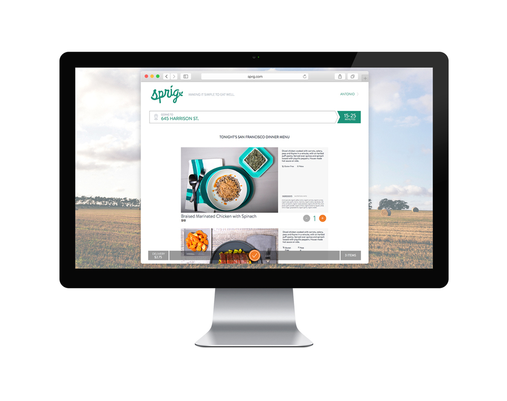 Now you can order Sprig via your desktop: Sprig.com!