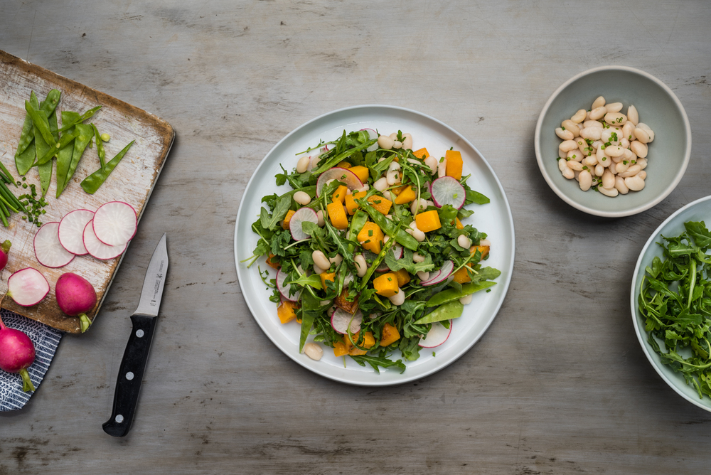 White bean salad with honey-lemon vinaigrette