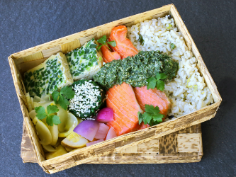 Bento Box of Smoked Salmon