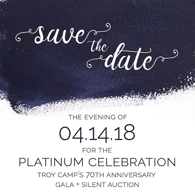 It's almost time! Troycamp's annual Gala and silent auction are just around the corner! To find out more visit troycamp.org/galainfo