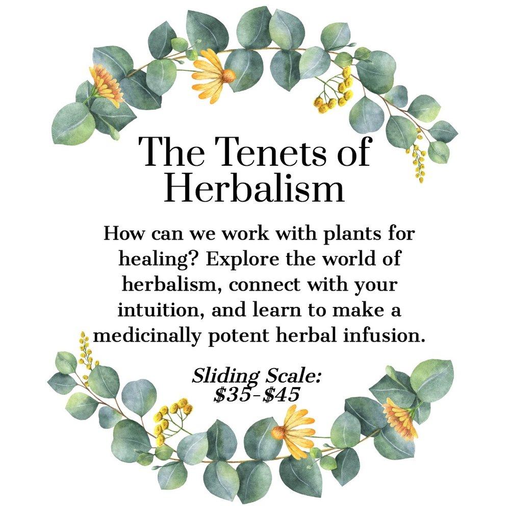 Tenets of Herbalism